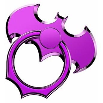 OATSBASF バンカーリング コウモリ スマホリング 紫 携帯リング 薄型 バット型 ホールドリング 落下防止 パープル (Bat3 Purple