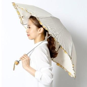 マッキントッシュ フィロソフィー(MACKINTOSH PHILOSOPHY)/【UV遮蔽率99%以上・遮熱効果】晴雨兼用フリル折畳み日傘(リバティ生地…