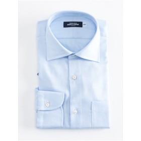 ドビー無地 ワイドカラーシャツ(ブルー)【TEIJIN MEN'S SHOP】