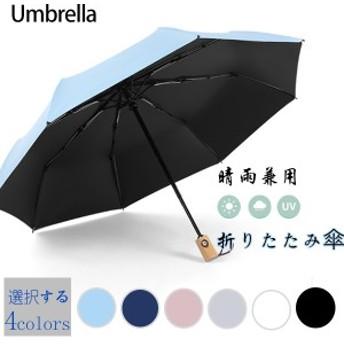 折りたたみ傘晴雨兼用自動開閉日傘uvカット遮光サンバリアかわいい運動会軽量無地梅雨8本骨紫外線