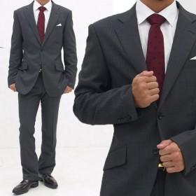 メンズ スーツ おしゃれビジネススーツ ジャケット スラックス フォーマル 結婚式 入学 社会人 メンズスーツ アジャスター付き 2つボタン シングル ローライズ