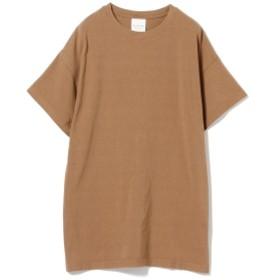 Ray BEAMS / サイドスリット ビッグ Tシャツ レディース Tシャツ BEIGE ONE SIZE