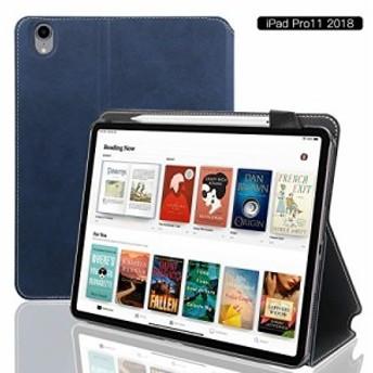 iPad Pro 11 ケース 2018秋モデル アイパッドカバー11インチ 全面保護 Apple Pencil とワイヤレス充電対応 マグネットス吸