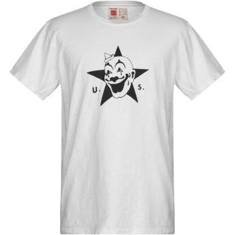《9/20まで! 限定セール開催中》BAKUTO893 メンズ T シャツ ホワイト S コットン