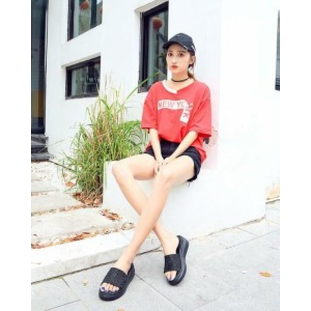e0e7dc0d3e7f1b サンダル レディース おしゃれ ファッション ビーチ スリッパ ラメサンダル フラット デザイン サンダル 痛くない 軽い 厚底 韓国