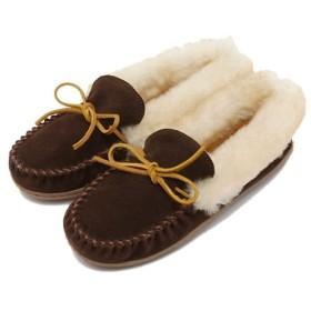 ミネトンカ ALPINE SHEEPSKIN MOC/アルパイン シープスキンモカシン レディース Chocolate 22.0cm 【MINNETONKA】