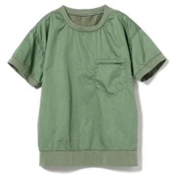 BEAMS BOY / リブ プルオーバー ショートスリーブシャツ レディース カジュアルシャツ SAGE ONE SIZE