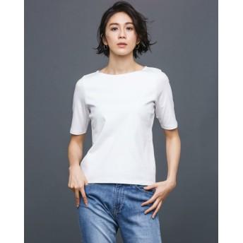 ドゥクラッセTシャツ・ボートネック5分袖/58cm丈
