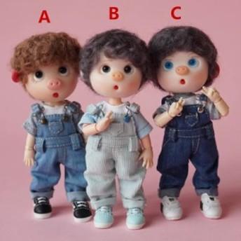 OB11 doll 専用 オビツ11ドール つりパン+半袖 オビツドール アウトフィット OB11 doll cloth outfit 1/12 doll bjd doll dress