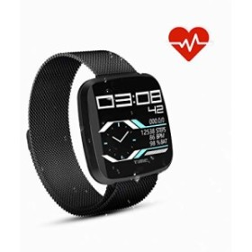スポーツスマートウォッチ フィットネストラッカー 心拍計 金属腕時計メタルバンド Android Phone用