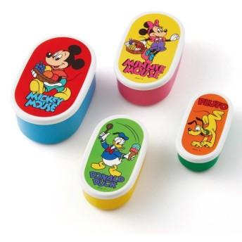 お弁当箱 お弁当用袋 ディズニー マンガのような入れ子ランチボックス 4個入り カラー 「ミッキー&フレンズ」
