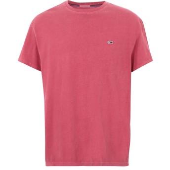 《期間限定 セール開催中》TOMMY JEANS メンズ T シャツ フューシャ S コットン 100% TJM GARMENT DYE TEE