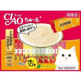 いなば チャオ ちゅ~る とりささみバラエティ 4種(14g40本入)[猫のおやつ・サプリメント]