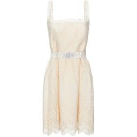 《セール開催中》BLUGIRL BLUMARINE レディース ミニワンピース&ドレス ベージュ 40 コットン 98% / ポリエステル 2%