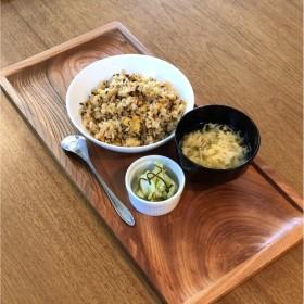木製カフェトレイ おぼん 欅