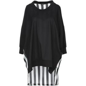 《送料無料》ANN DEMEULEMEESTER レディース T シャツ ブラック 38 コットン 100% / シルク