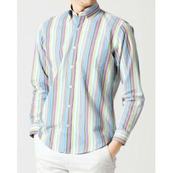 マルチストライプシャツ/長袖