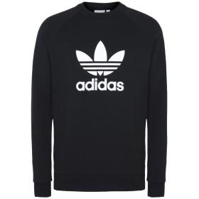 《期間限定 セール開催中》ADIDAS ORIGINALS メンズ スウェットシャツ ブラック XXL コットン 100% TREFOIL CREW