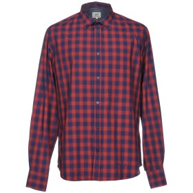 《期間限定セール開催中!》HENRY COTTON'S メンズ シャツ レッド 44 コットン 100%