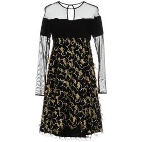 《9/20まで! 限定セール開催中》MARY D'ALOIA レディース ミニワンピース&ドレス ブラック 42 ポリエステル 100%