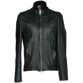 《期間限定 セール開催中》DELAN メンズ ブルゾン グリーン 54 革 100% / 紡績繊維