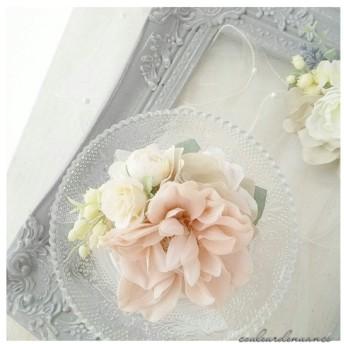ふんわりピンクの春コサージュ*pink 【入園、入学式、卒園式に。・:+°】