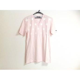 【中古】 ギルドプライム GUILD PRIME 半袖Tシャツ メンズ ピンク 白 スター