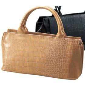 30%OFFクロコ型押しハンドバッグ(フォーマル・卒業式・入学式) - セシール ■カラー:グレージュ