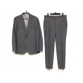 【中古】 コンプリート COMPLET par men's melrose シングルスーツ サイズ4 XL メンズ グレー ストライプ