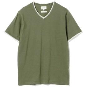 【40%OFF】 ビームス アウトレット BEAMS / ダブル カラー カットオフ Vネック Tシャツ メンズ OLIVE/OD L 【BEAMS OUTLET】 【セール開催中】