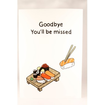 引っ越し/グリーティングカード/メッセージカード/すし/寿司/かわいい/バイバイ