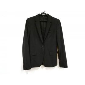 【中古】 セオリー theory ジャケット サイズ2 S レディース 美品 黒 肩パッド/春・秋物