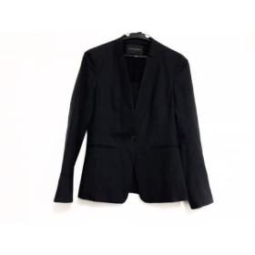 【中古】 ユナイテッドアローズ ジャケット サイズ36 S レディース 美品 ネイビー グレー ストライプ