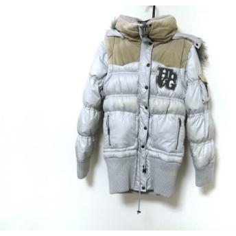 【中古】 エイチビージー HbG ダウンコート レディース ライトグレー ジップアップ/冬物