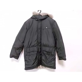 【中古】 バーバリーブラックレーベル Burberry Black Label ダウンコート サイズLL レディース 黒 冬物
