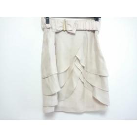 【中古】 アプワイザーリッシェ Apuweiser-riche スカート サイズ2 M レディース ベージュ
