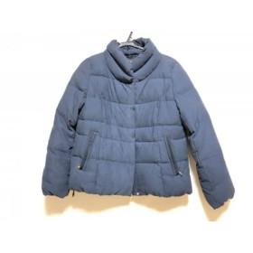 【中古】 レリアン Leilian ダウンジャケット サイズ11 M レディース ネイビー ジップアップ/冬物