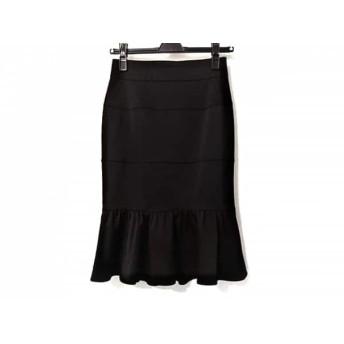 【中古】 マテリア MATERIA スカート サイズ36 S レディース 黒