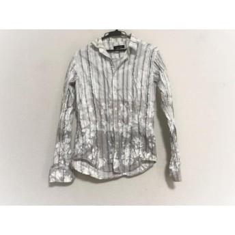 【中古】 トルネードマート TORNADO MART 長袖シャツ サイズ4 XL メンズ 白 ダークグレー ストライプ