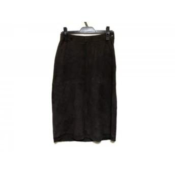 【中古】 アンテプリマ ANTEPRIMA スカート サイズ42 M レディース ダークブラウン レザー