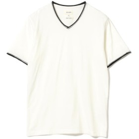 【40%OFF】 ビームス メン BEAMS / ダブル カラー カットオフ Vネック Tシャツ メンズ WHITE S 【BEAMS MEN】 【セール開催中】