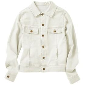 30%OFF【レディース】 ニットデニムジャケット(選べる2レングス) ■カラー:ホワイト ■サイズ:M-ロング,LL-ロング,L-ロング