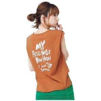 イマージュ IMAGE タックスリーブプリントTシャツ(cecile セシール)
