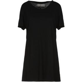 《期間限定 セール開催中》GROCERIES レディース T シャツ ブラック M 指定外繊維(ヘンプ) 60% / オーガニックコットン 40%