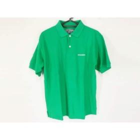【中古】 ケンゾー KENZO 半袖ポロシャツ サイズF メンズ グリーン