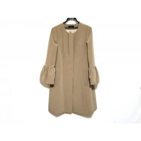 【中古】 マドーレ madre コート サイズ40 M レディース ライトブラウン 春・秋物