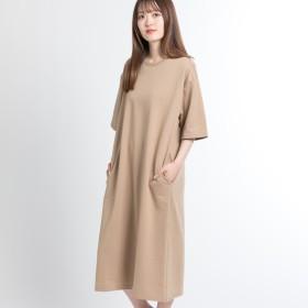 ワンピース - WEGO【WOMEN】 ミニ裏毛ルーズワンピース BS18SM06-L013