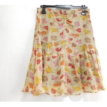 【中古】 シーバイクロエ SEE BY CHLOE スカート サイズ40(I) M レディース ベージュ レッド マルチ