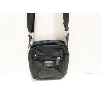【中古】 マリメッコ marimekko ショルダーバッグ 美品 CASH & CARRY 黒 ナイロン