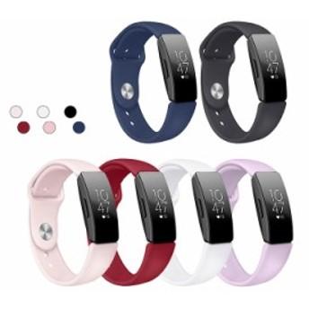 Fitbit 交換 バンド Inspire/Inspire HR TPU スポーツ ベルト Fitbit Inspire/Fitbit Inspire HR 交換リストバンド